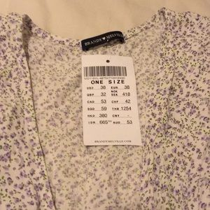 Brandy Melville Dresses - NWT Brandy Melville Floral Midi Wrap Dress